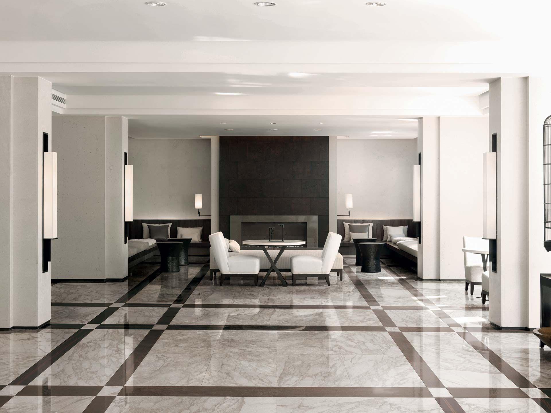 Grès cérame pour carrelage imitation marbre blanc: I Bianchi di Rex ...