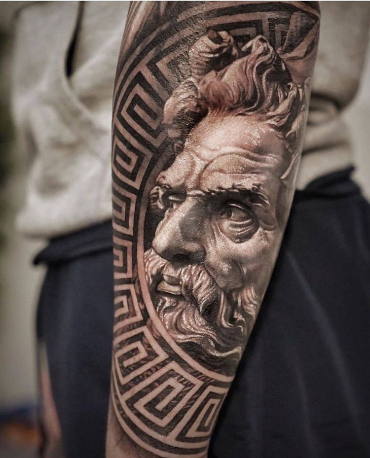 #greektattoo #zeustattoo #zeus #antique