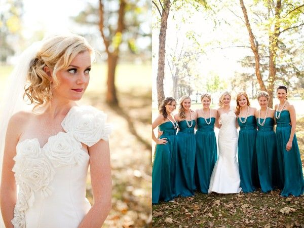 An Elegant Evening Picnic | Teal bridesmaid dresses, The long and ...