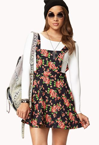 920e0ea96c5 Floral dress with white long-sleeved t-shirt