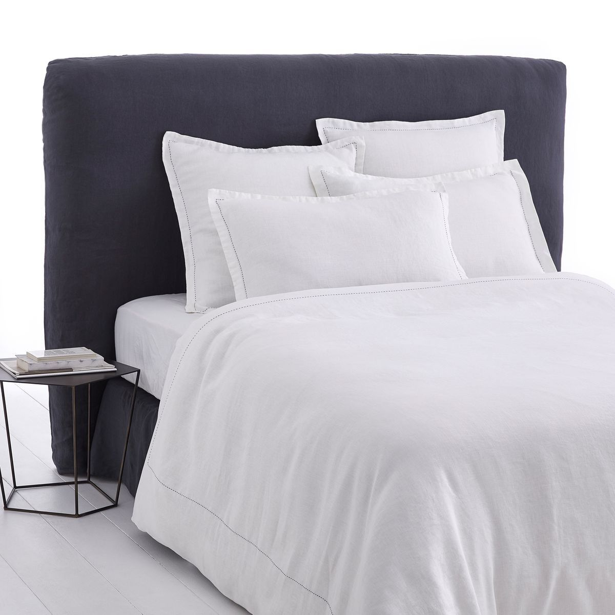 Housse Couette Lin Lave Brodee Ponteggia Taille 260x240 Cm 140x200 Cm 200x200 Cm 240x220 Cm Housse De Couette Lin Housse De Couette Et Couette En Lin