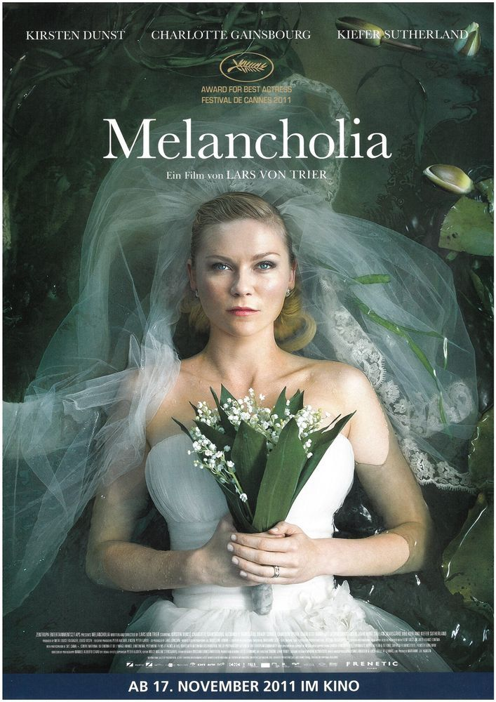 MELANCHOLIA - LARS VON TRIER - 2011 - CHARLOTTE GAINSBOURG - FILMPOSTER A4