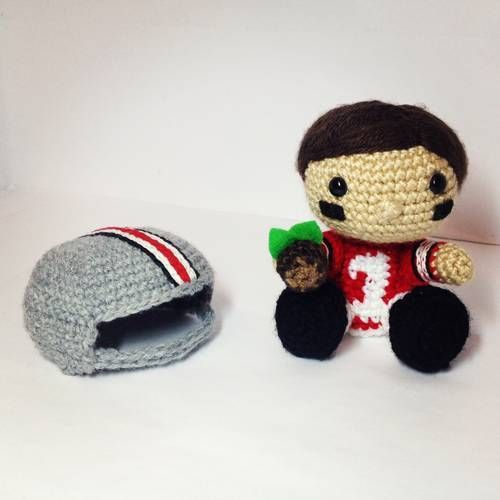 Football Player with Removable Helmet! - CROCHET