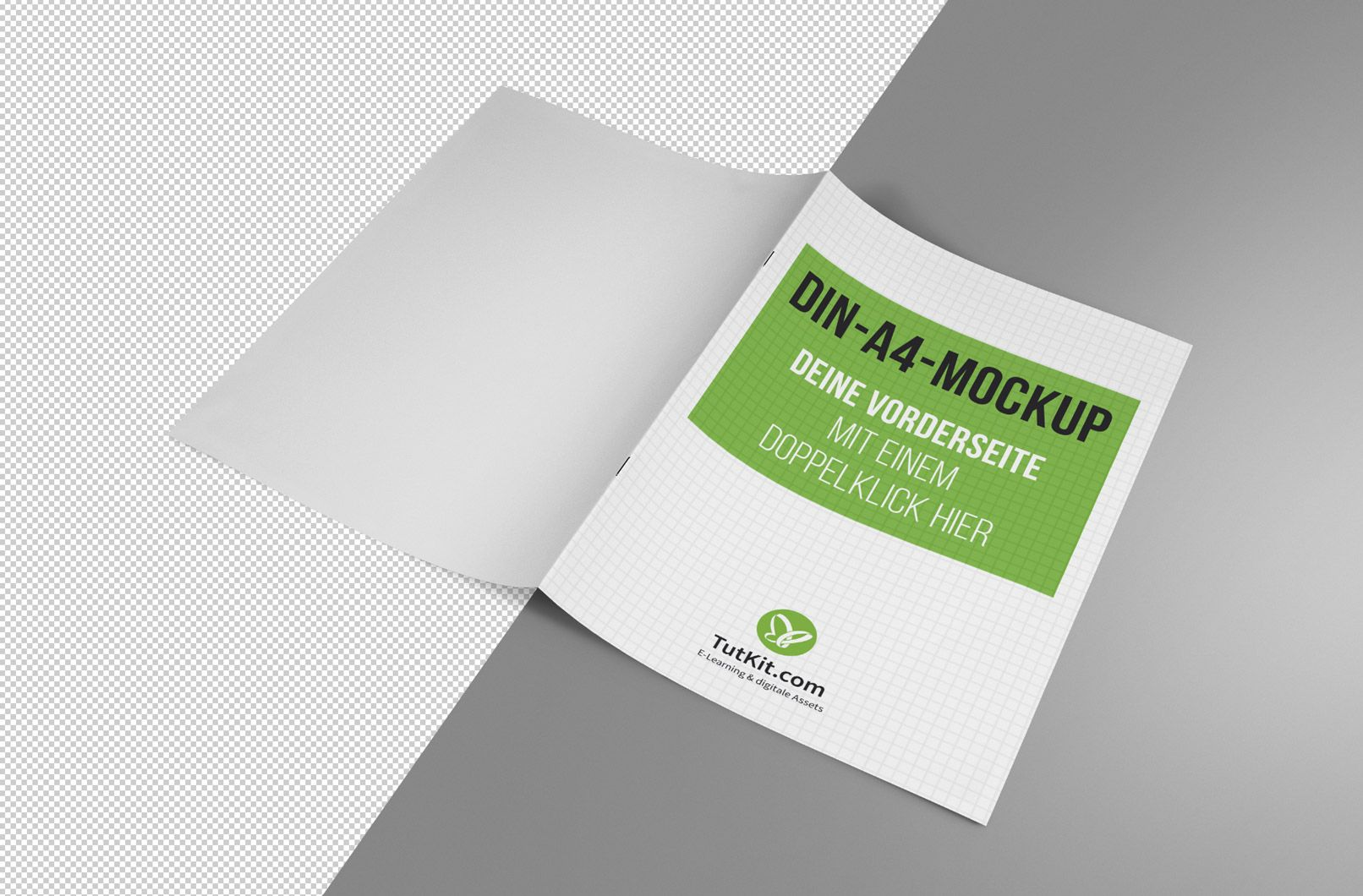 Mockups Für Broschüren Im A4 Hochformat Broschüre Design