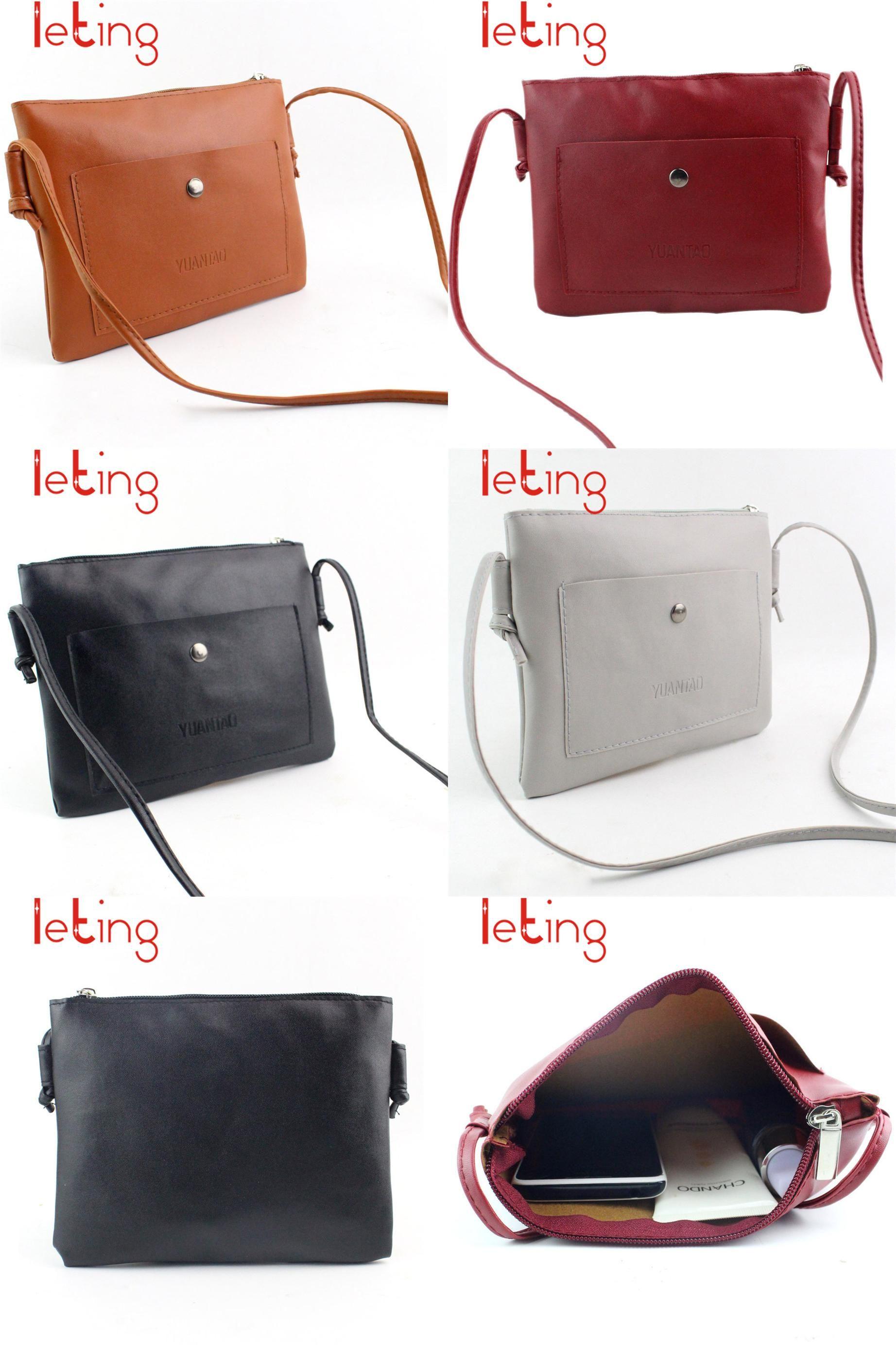 Colorido Simple Women Faux Leather Cross Body Shoulder Messenger Bag