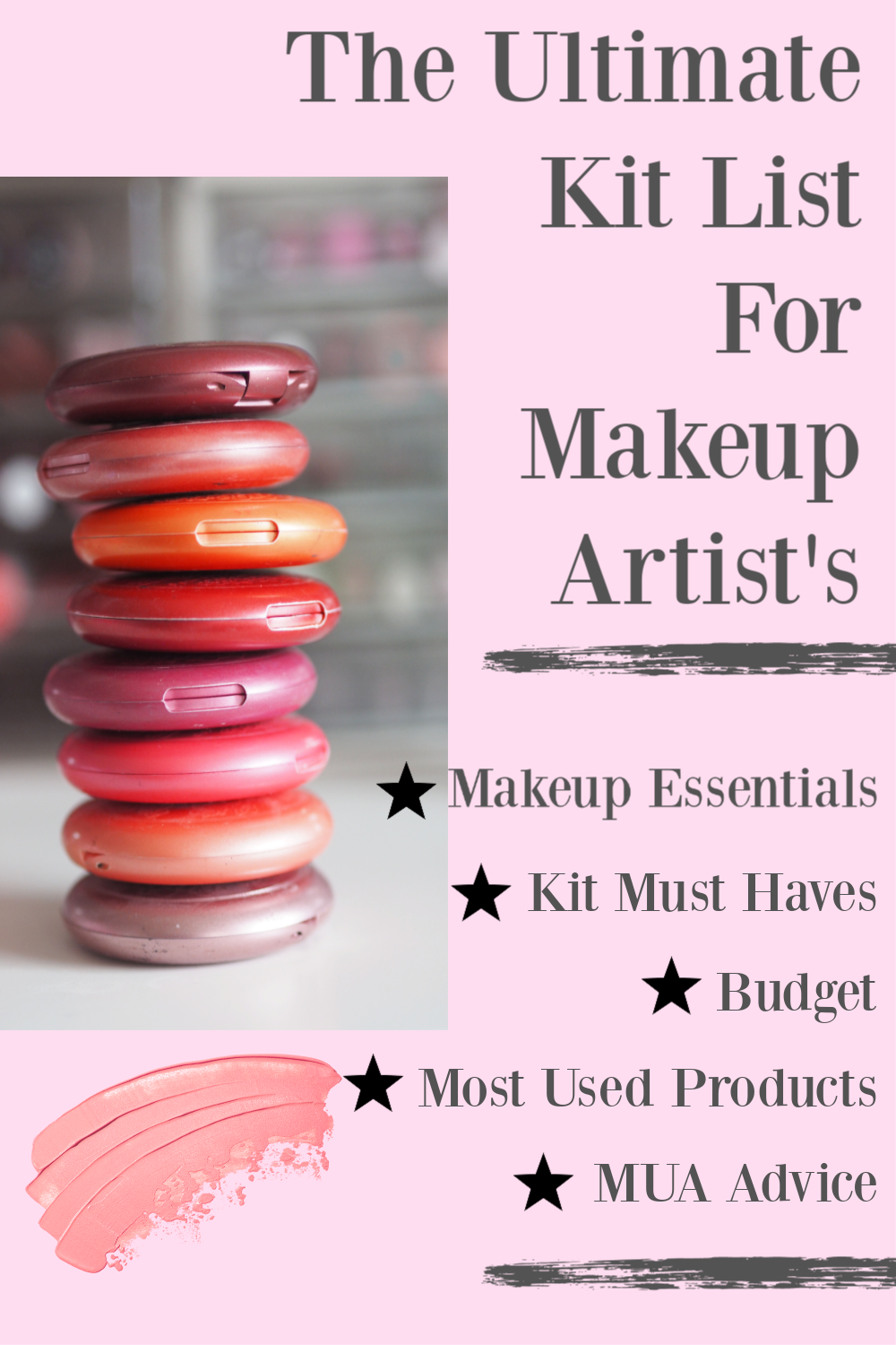 The Ultimate Kit List for Professional Makeup Artists in