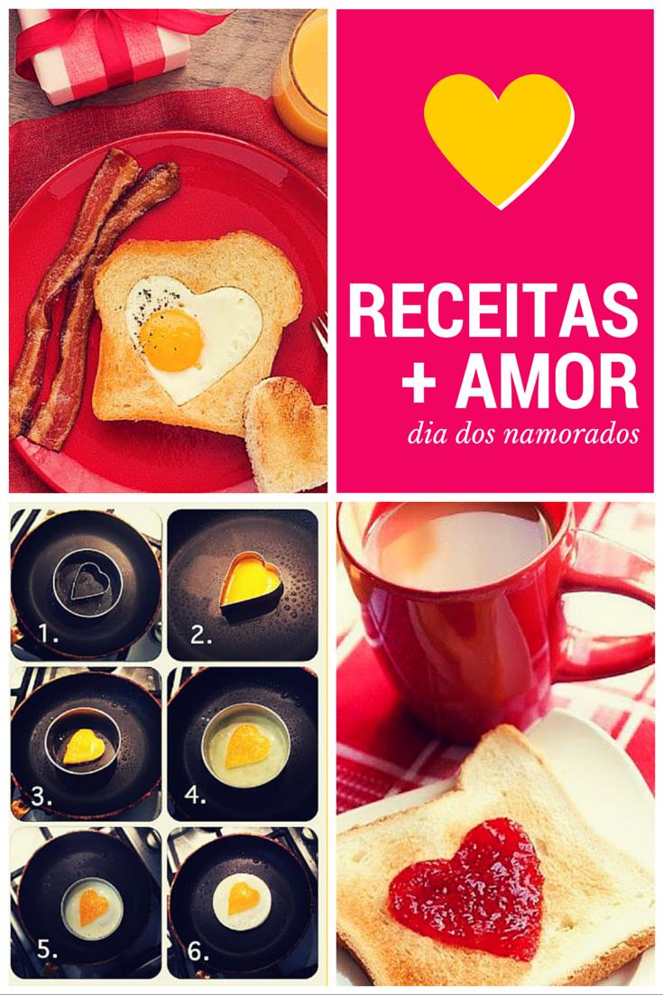 """05 Receitas para o Dia dos Namorados! Comidas românticas que dizem """"Eu te amo"""" :)   Café da manhã e sobremesas deliciosas para seu amor!"""