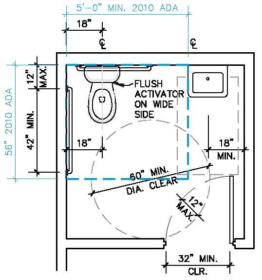 Bathroom Stall Layout ada single restroom - google search | design | pinterest | small