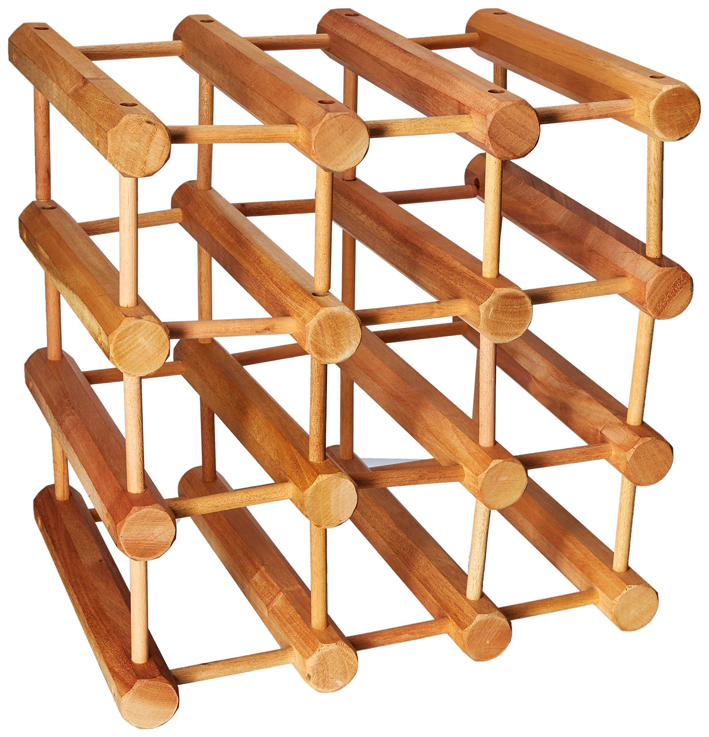 Wine Enthusiast Modular 12 Bottle Wine Rack Natural To View Further For This Item Visit The Image Link This I In 2020 Wine Rack Wine Rack Storage Wine Enthusiast
