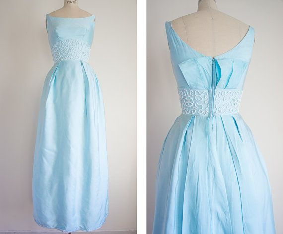 Vintage 1960s Formal Dress / Size XXS or XS / by SwoonShopVintage, $128.00