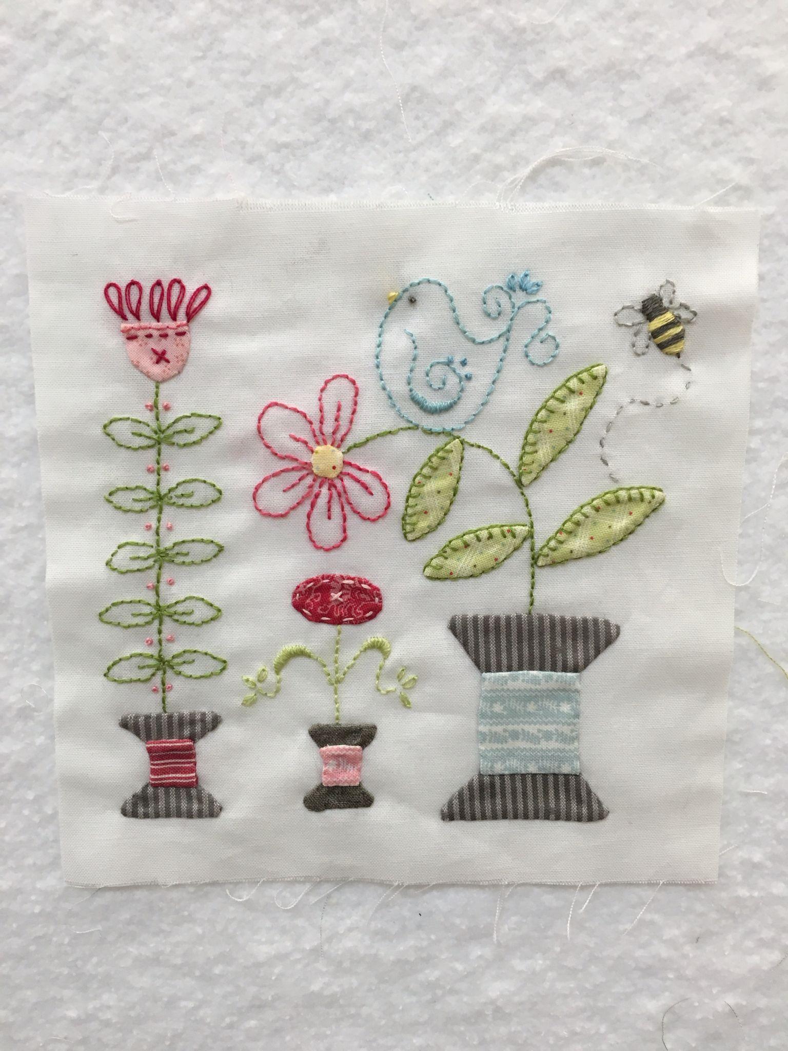 Block 44 of The Splendid Sampler Quilt | Embroidery | Pinterest ...