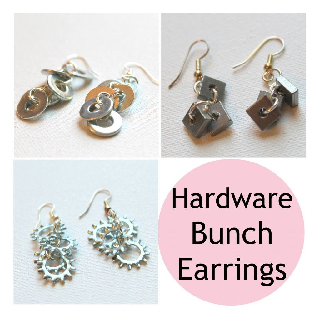 Hardware Bunch Earrings Pattern #earrings #howtomakeearrings http ...