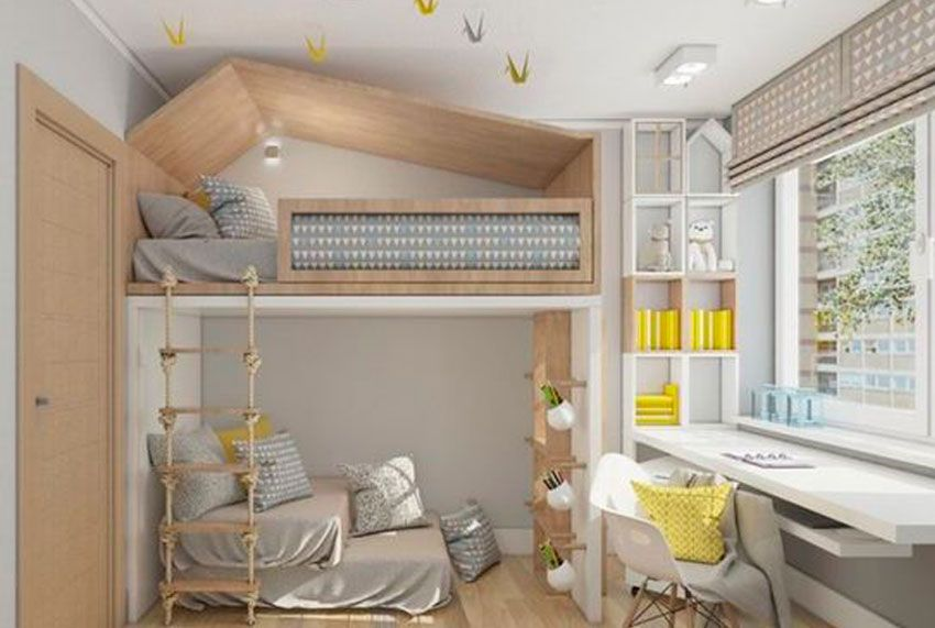 Habitacion infantil kids niños litera interiorismo hogar