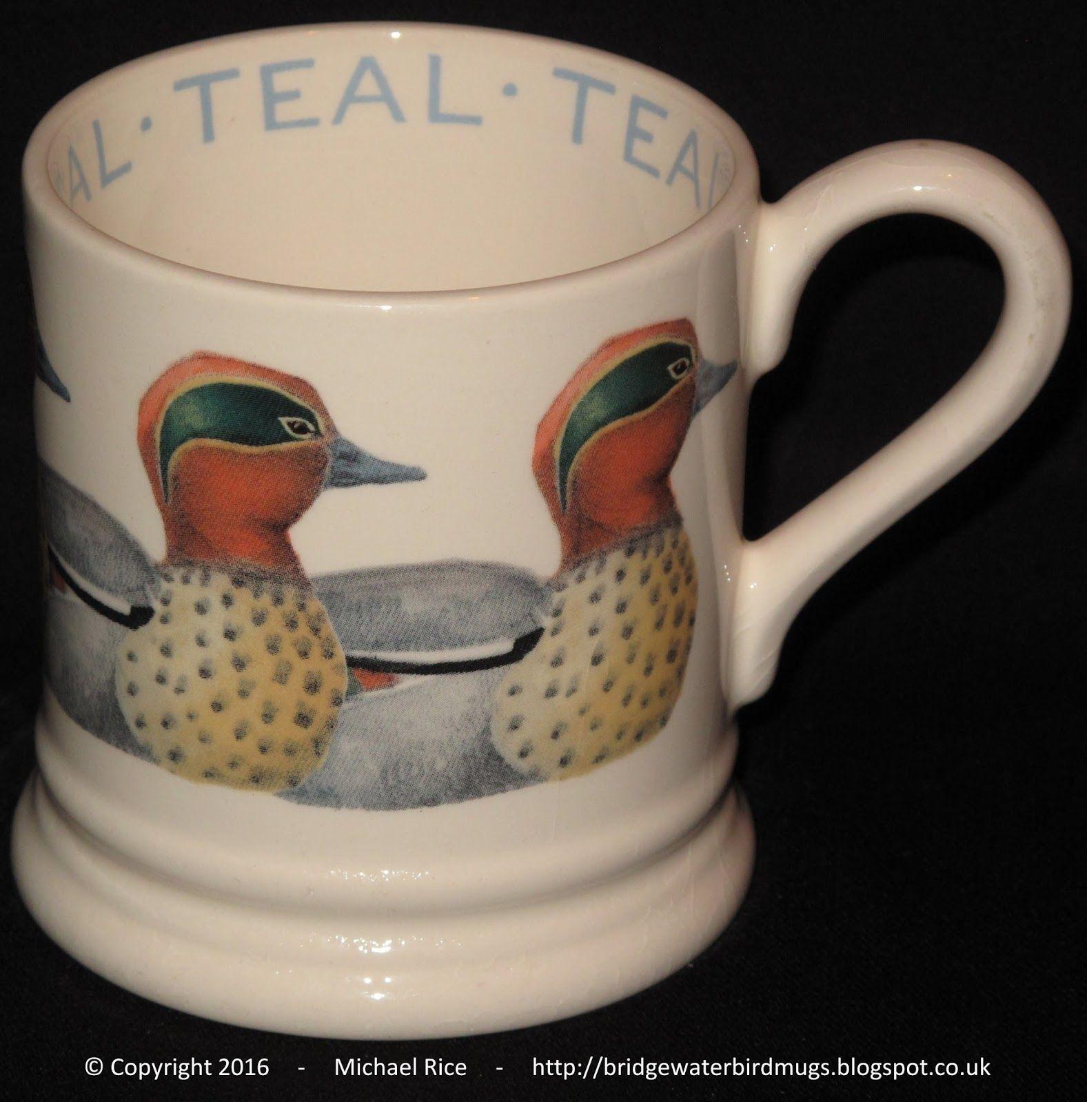 Teal 0.5 Pint Mug Teal mugs, Emma bridgewater, Teal