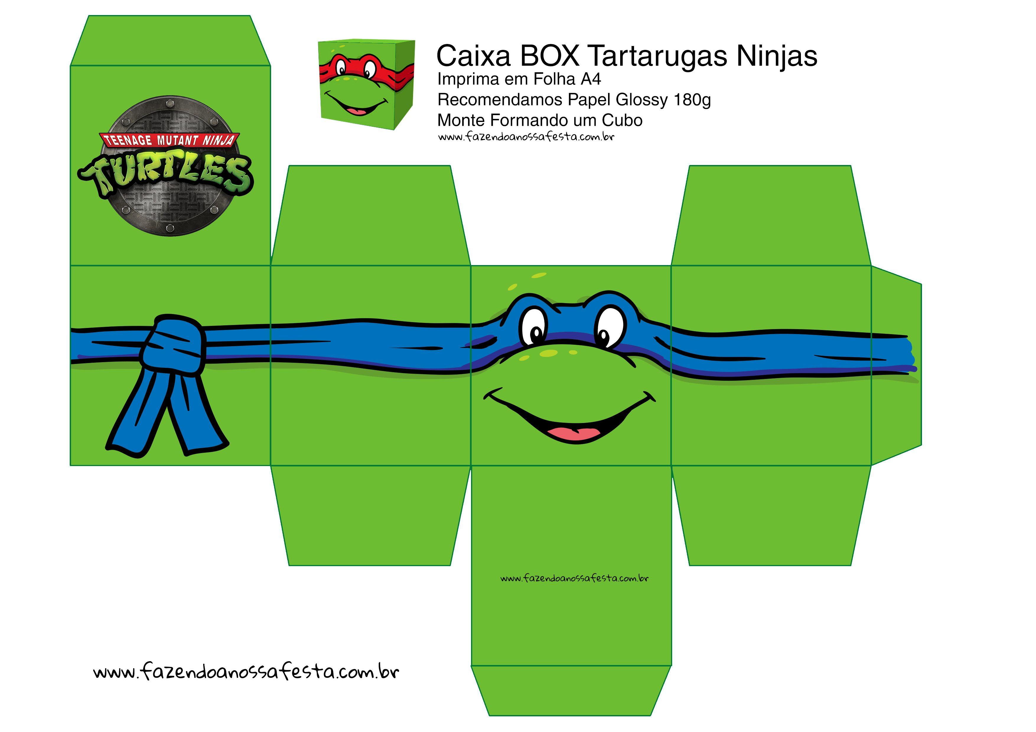 Leonardo Caixa Box Quadrada Tartaruga Ninjas Tartarugas Ninjas