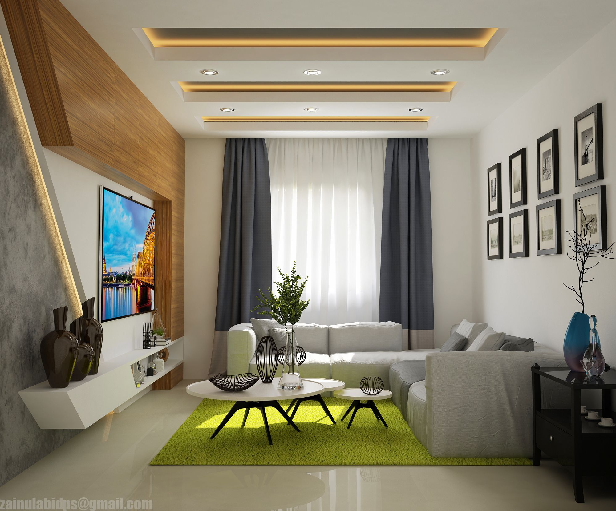 """Check out my Behance project """"modern living hall"""" https"""