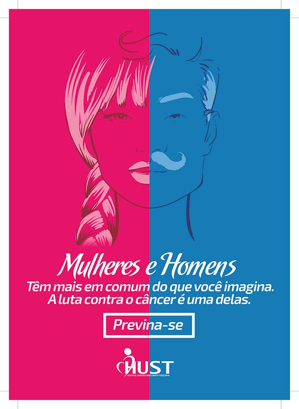 Campanha Outubro Rosa e Novembro Azul HUST on Behance Novembro Azul Frases, Pilates, Art -> Decoração Para Outubro Rosa E Novembro Azul