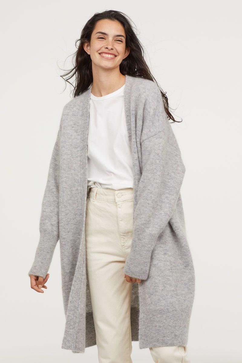 mejor selección de 2019 venta outlet venta usa online Cárdigan largo con lana   Gris claro jaspeado   MUJER   H&M ...