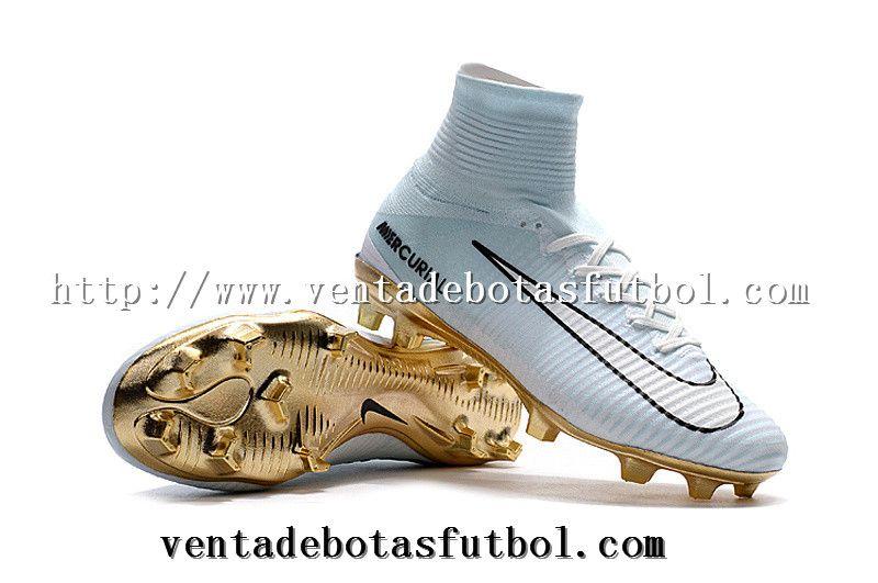 90278bd6ed6 Botas De Futbol Nike Niños Mercurial Superfly CR7 Vitórias - Blanco Dorado  Shop Online