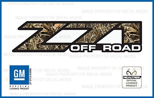 GMC Sierra RealTree MAX4 Z71 Off Road decals stickers - MAX4 (2001