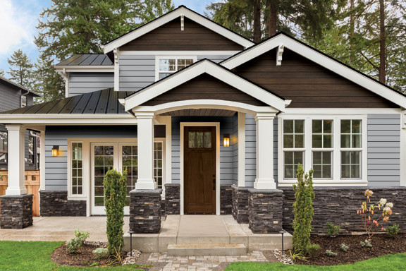 Bellara Steel Siding Residential Metal Roofing Siding For Homes Cottages Vicwest Building Steel Siding Metal Roof Houses Craftsman Style House Plans