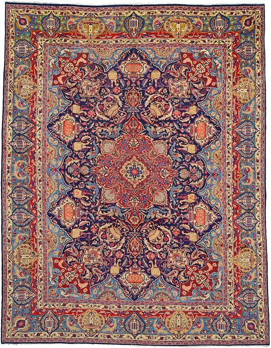 Navy Blue 9 10 X 12 6 Kashmar Rug Persian Rugs Esalerugs Rugs Persian Rug Rugs On Carpet