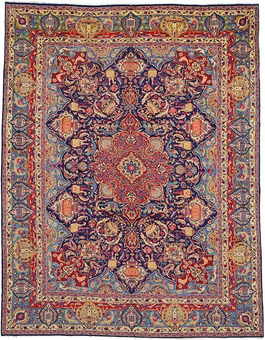 Navy Blue 9 10 X 12 6 Kashmar Rug Persian Rugs Esalerugs Rugs Persian Rug Rugs On Carpet