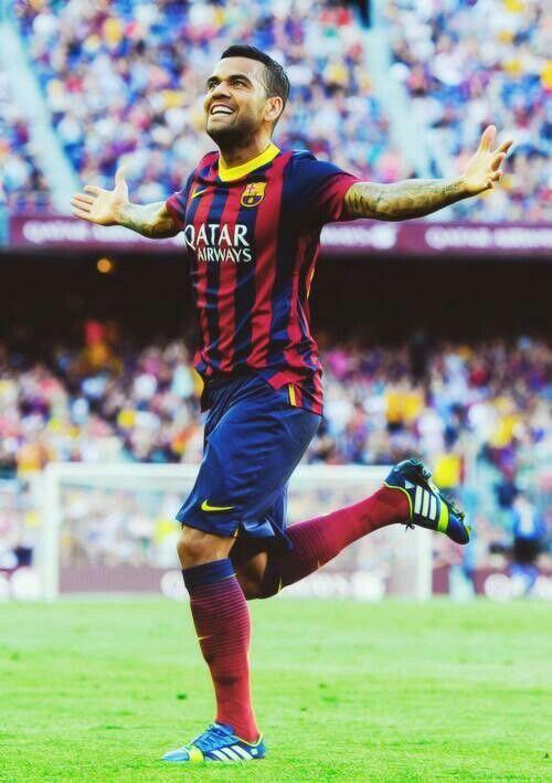 Dani Alves Fc Barcelona Football Fc Barcelona Football En Soccer