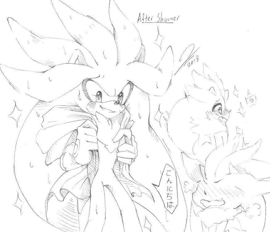 Silver After Shower Doodles 3 Art By Me By Aimblu19 Silver The Hedgehog Sonic Fan Art Sonic Art