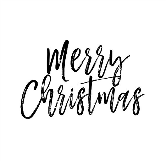 Merry Christmas Text Overlay Png Clip Art Modern Etsy In 2021 Merry Christmas Text Christmas Calligraphy Christmas Text