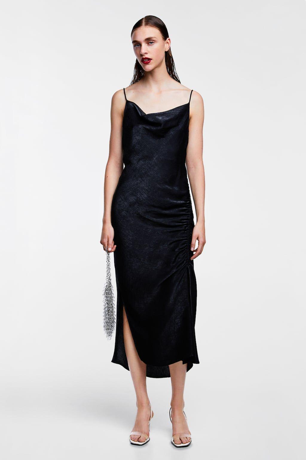 f24bab59 Image 2 of DRAPED LINGERIE-STYLE SATIN DRESS from Zara   FW18 ...