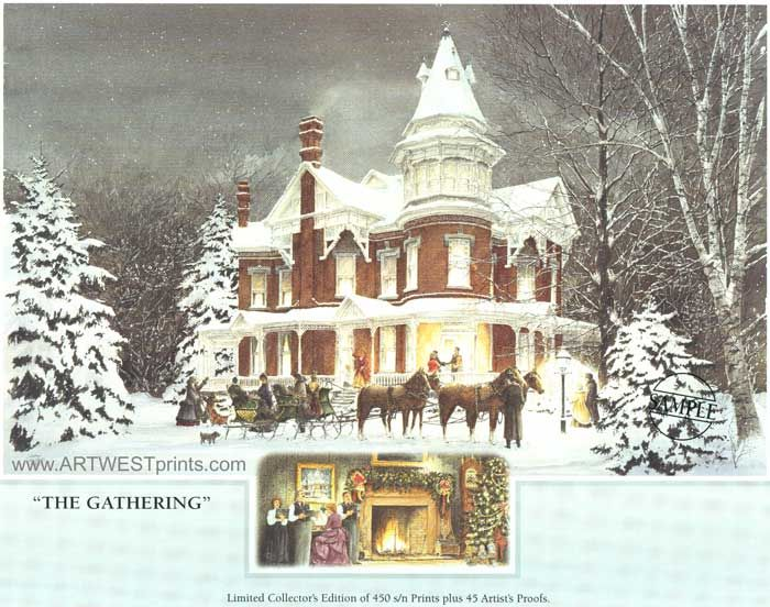 victorian country christmas walter campbell art print gallery janice tanton