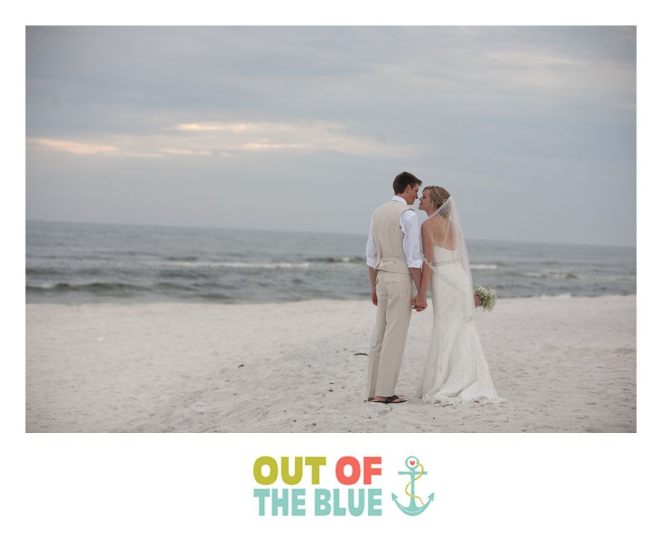 Romantic beach elopement. You just show up and Out of the Blue does all the work! Okaloosa Island (near Destin, FL)