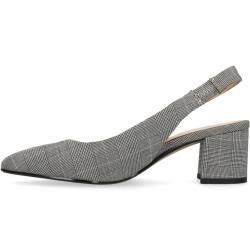 Photo of Gray checkered pumps with small heel (36,37,38,39,40,41,42) Manfield