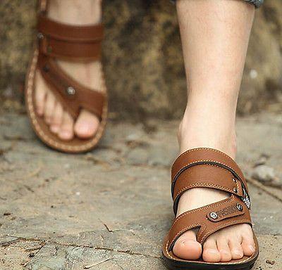 Roman Mens Flip Flops Slippers casual Retro Sandals Beach ...