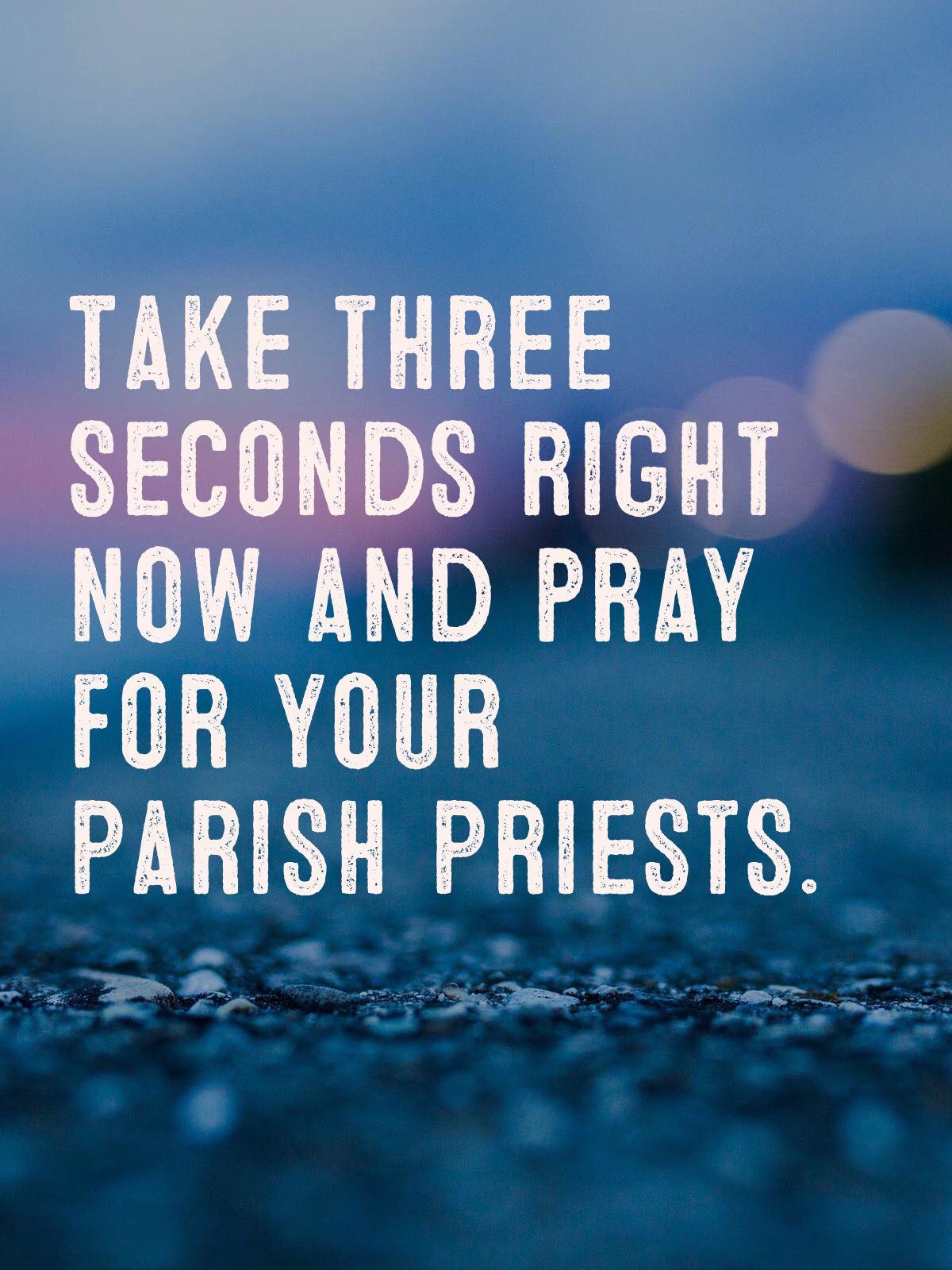 How to pray when there is no time