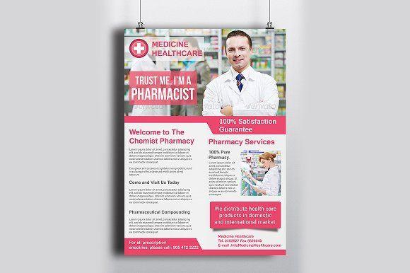 Pharmacy Flyer Template By Creative Designer On Creativemarket