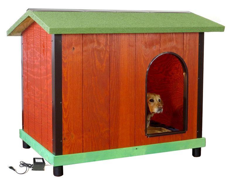 Cuccia In Legno Coibentato Da Esterno Per Cani Di Taglia