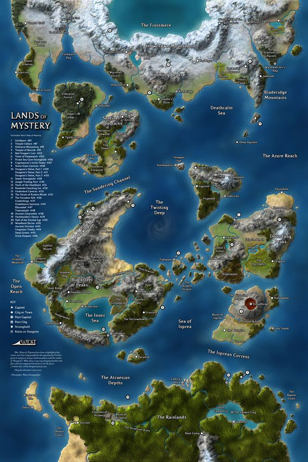 The Lands of Mystery was a continental map I created for the final