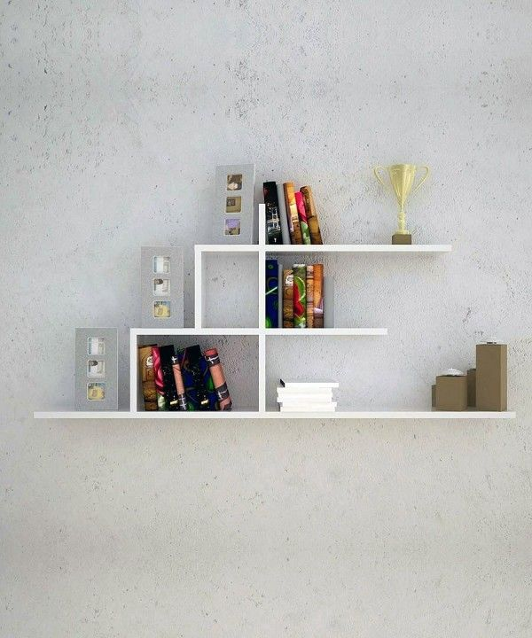 Top 20 Creative Bookshelf Design From Modern And Modular For You: Small Wall  Mounted Creative Amazing Design