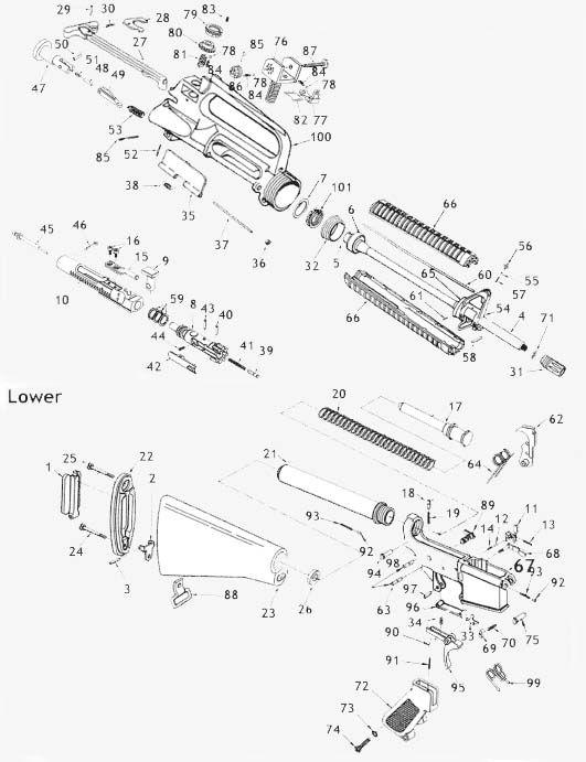 AR15 M4 Parts Diagram | Knowledge Base