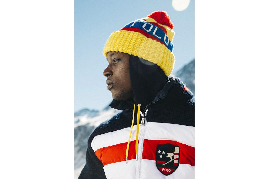 2337d693e9e Polo Ralph Lauren Downhill Skier Lookbook collection outerwear jackets knit  sweaters pants beanies bags