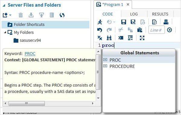 SAS – User Interface   User interface and Sas programme