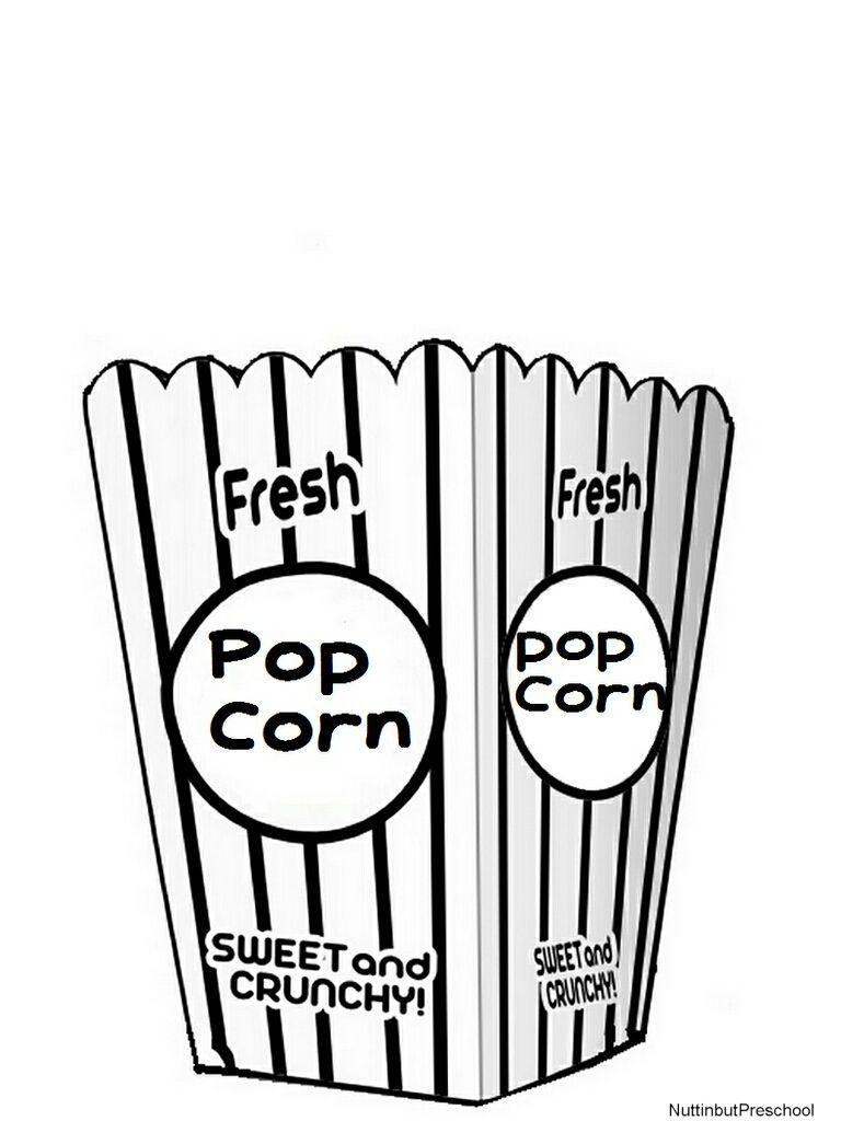 Popcorn Lesson Plan Theme Colored Popcorn Popcorn Bucket