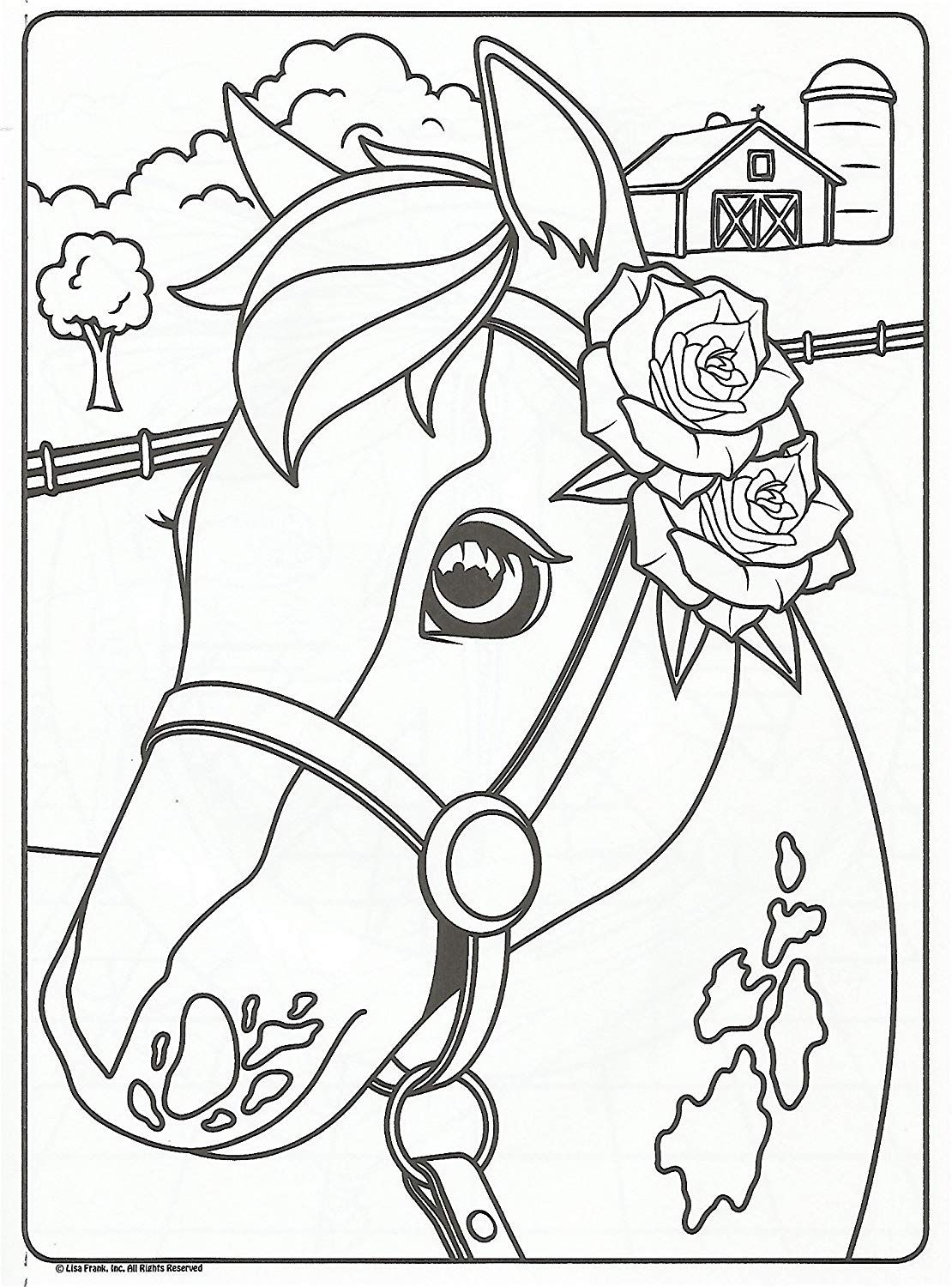 Amazon Com Lisa Frank Color And Trace Book With Stand Up Characters Toys Games Puppy Coloring Pages Horse Coloring Pages Dog Coloring Page [ 1500 x 1110 Pixel ]