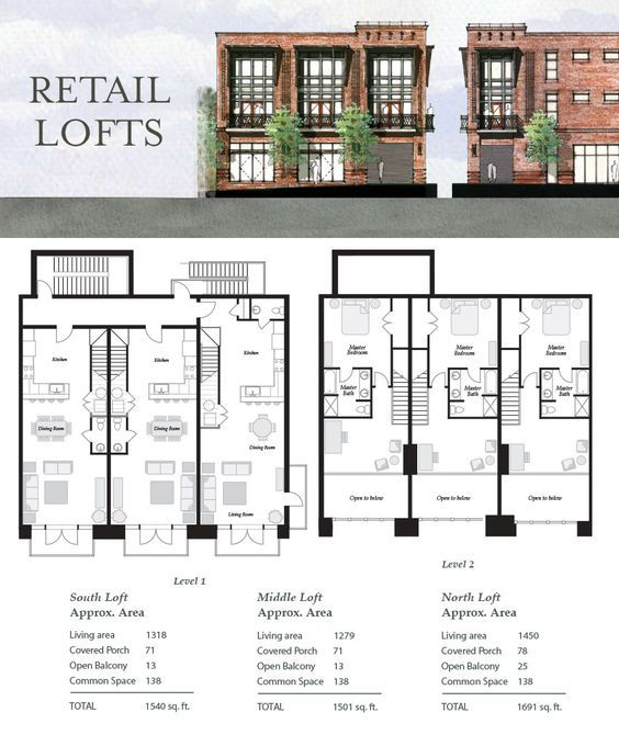 Retail Lofts House Floor Plans Townhouse Designs Townhouse Exterior