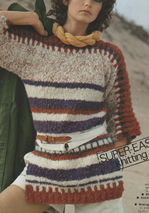 Instant PDF Download Vintage Row by Row Knitting by ickythecat