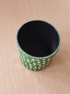 Bejeweled Cup Pen Holder ( Yellow )