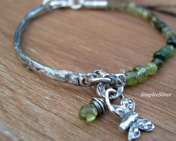 Artisan+Jewelry++++Handmade+Twig+Bracelet++++Fine+door+SimpleeSilver,+$138.00