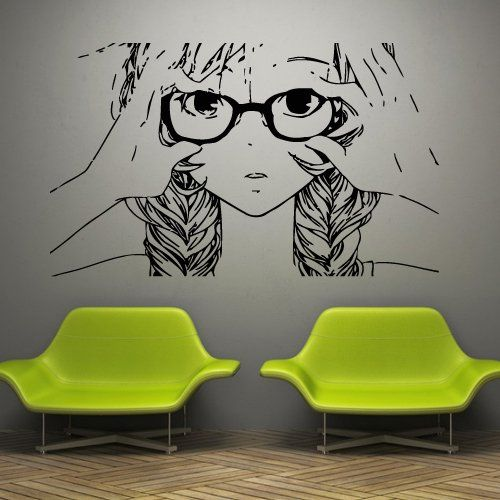 Details about  /3D Scenery Girl D192 Japan Anime Wall Stickers Wall Mural Decals Wendy